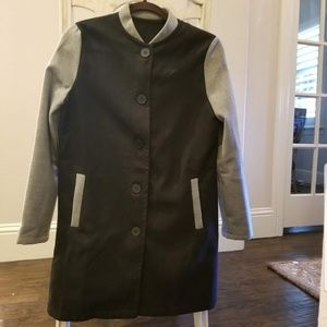 Black and grey flannel jacket